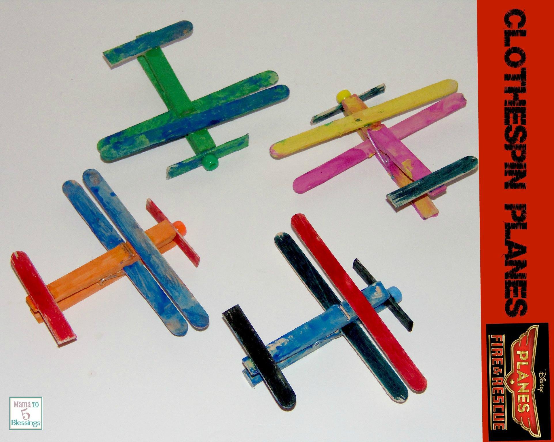 clothespins planes