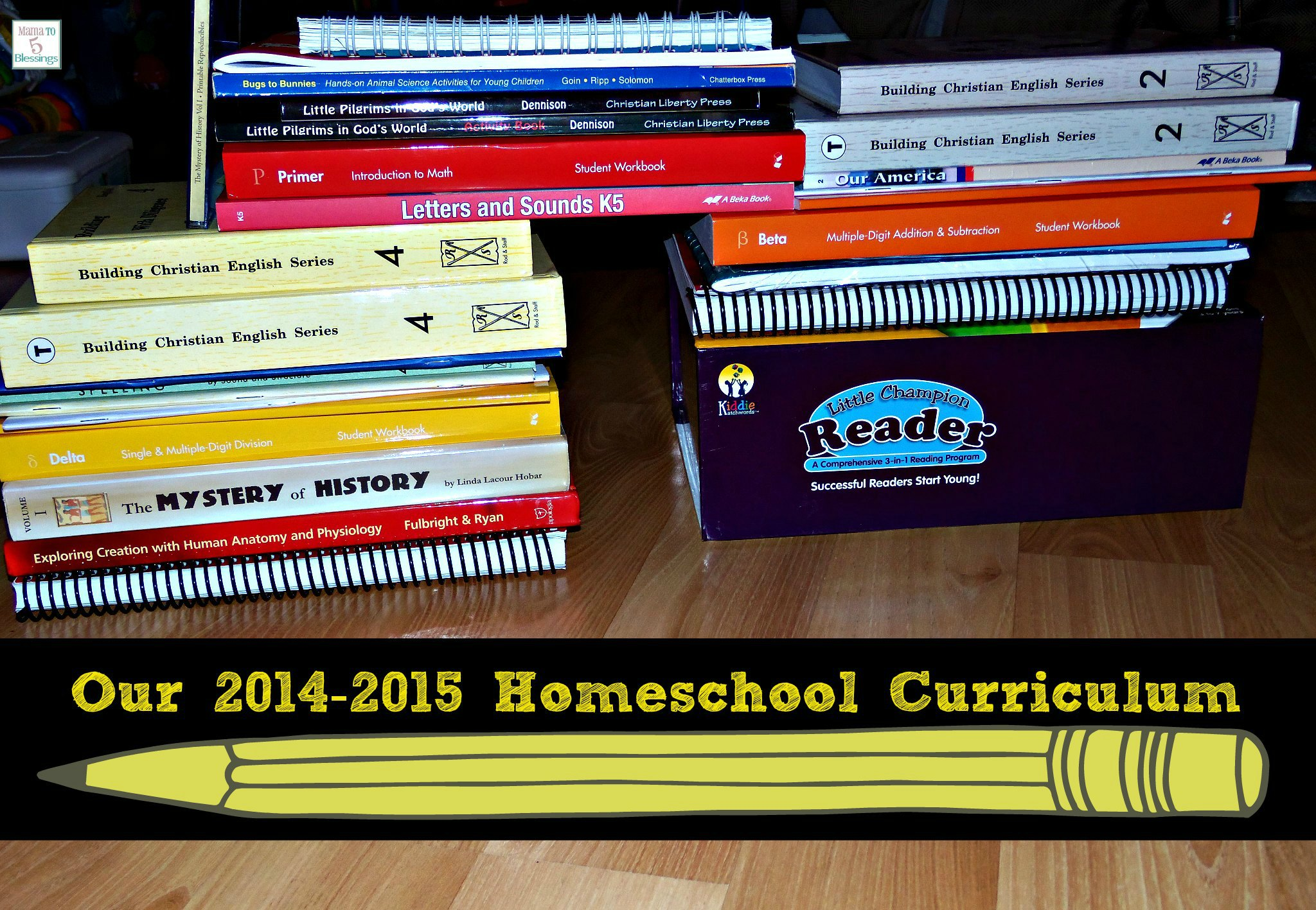 homeschool curriculum 2014-2015 use