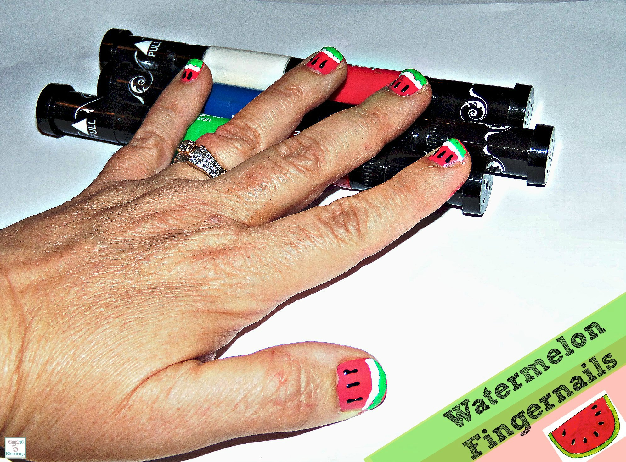 hot designs watermelon nails use - Hot Designs Nail Art Ideas