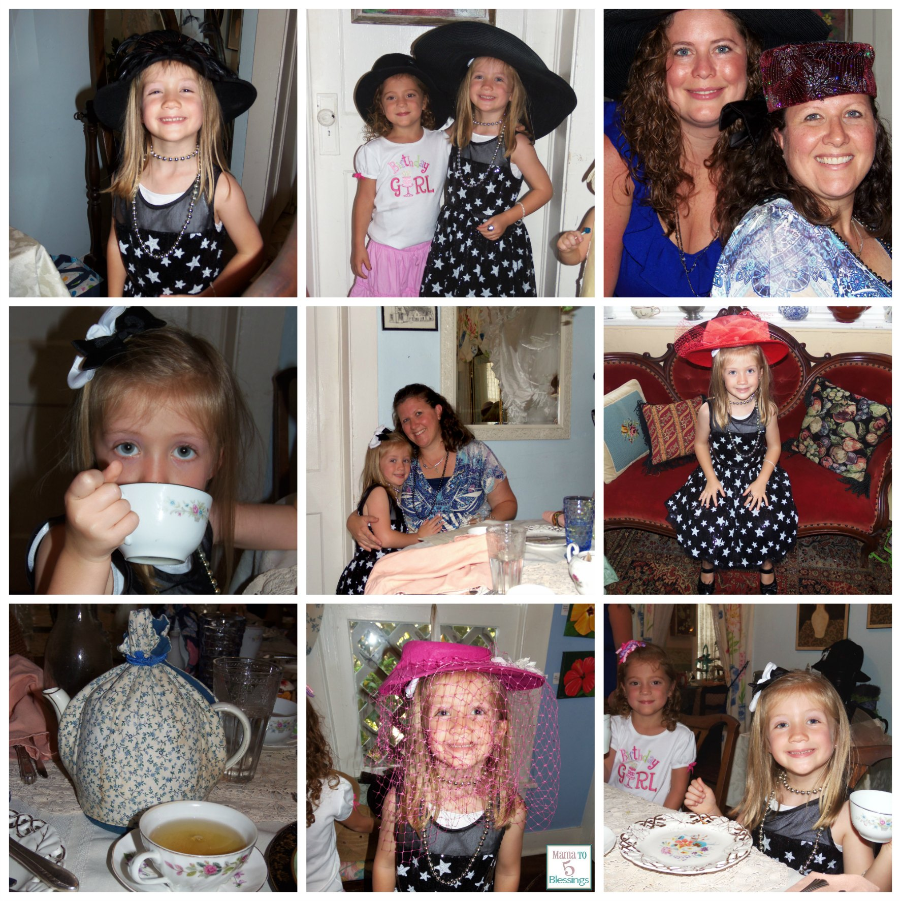 tea party collage