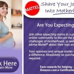 Expecting? Join The Mattel Community & Earn Rewards