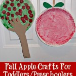 Fall Apple Crafts For Toddlers/Preschoolers