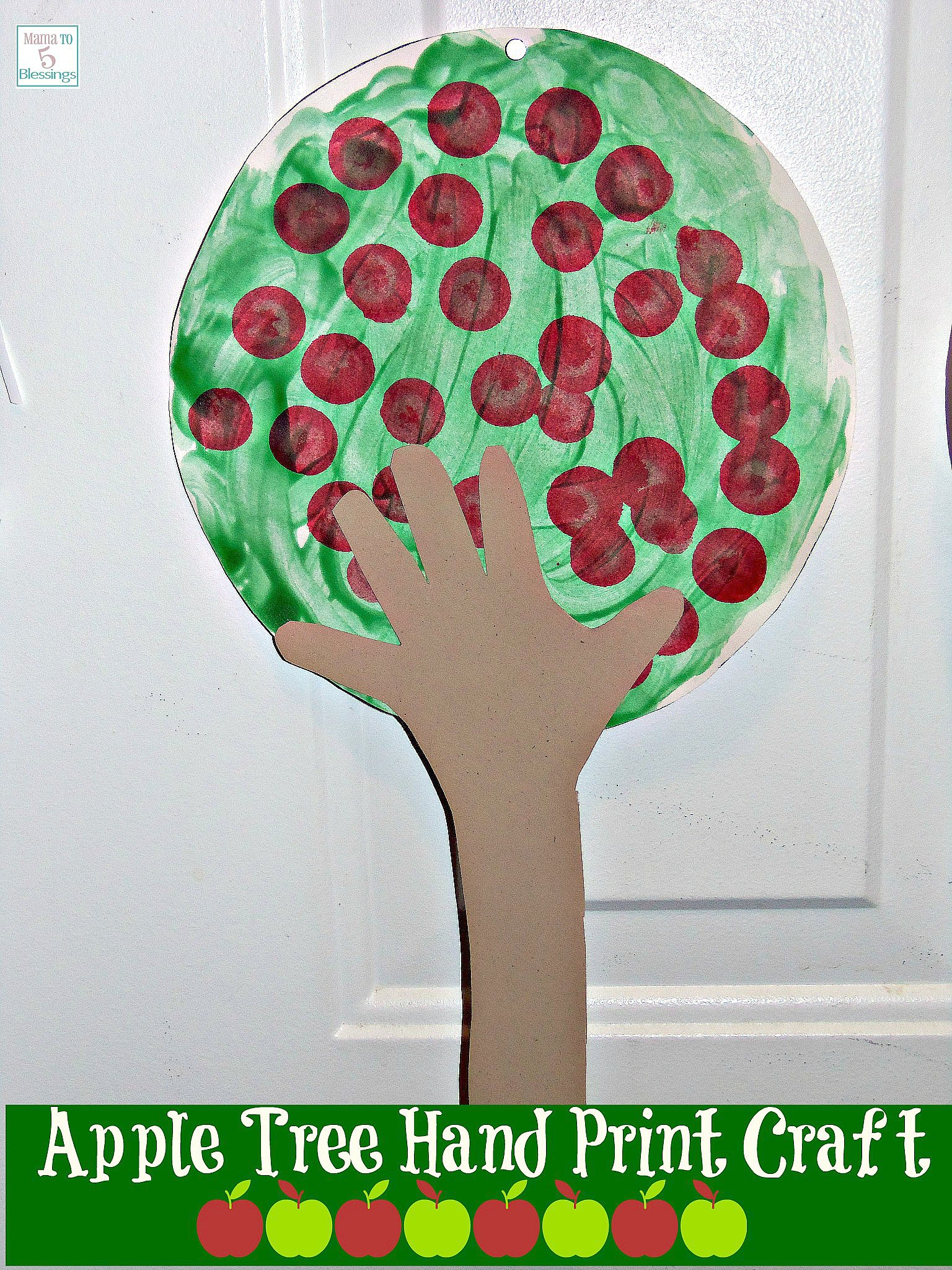 apple tree hand print