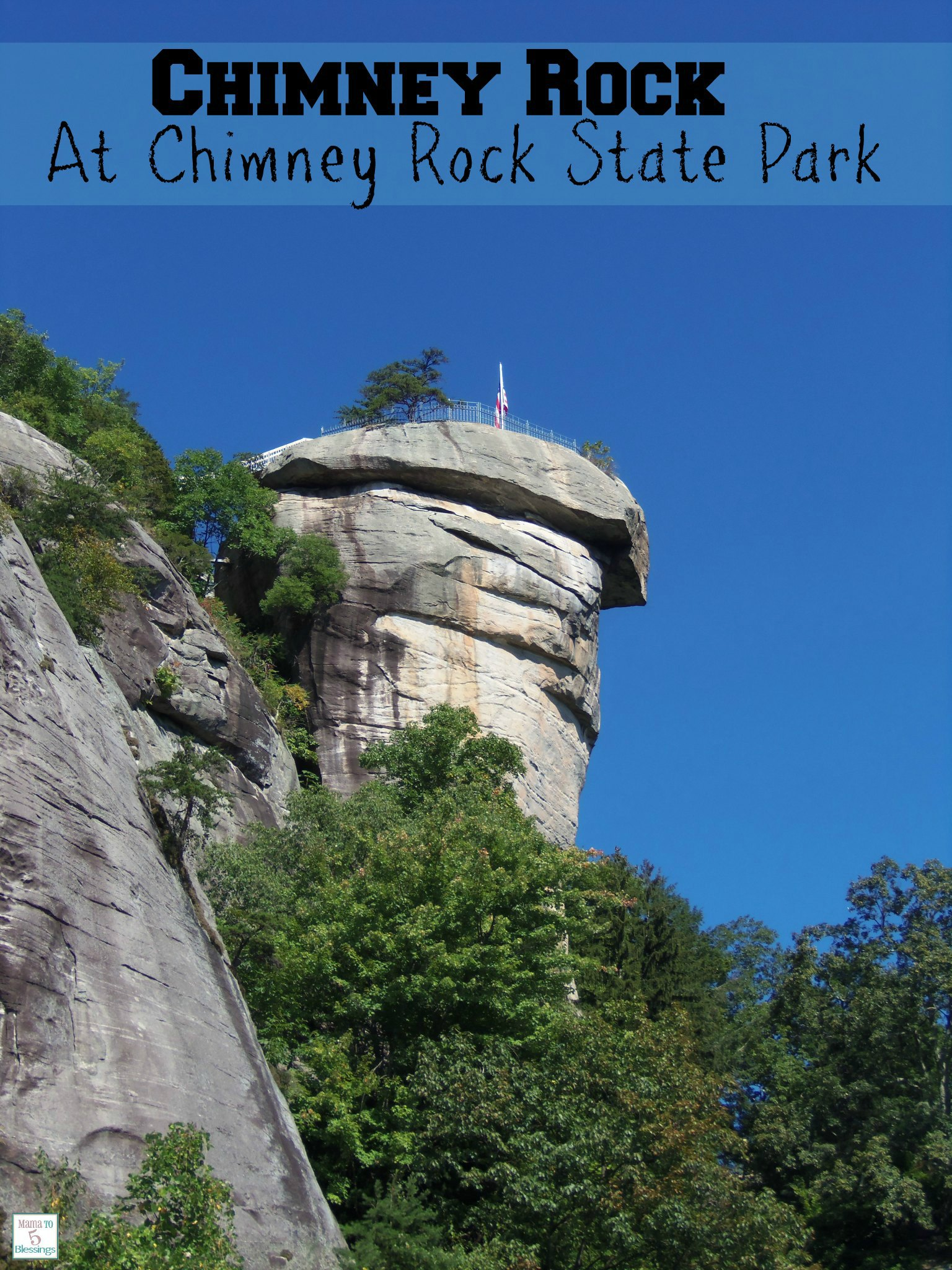 chimney rock at Chimney State Park