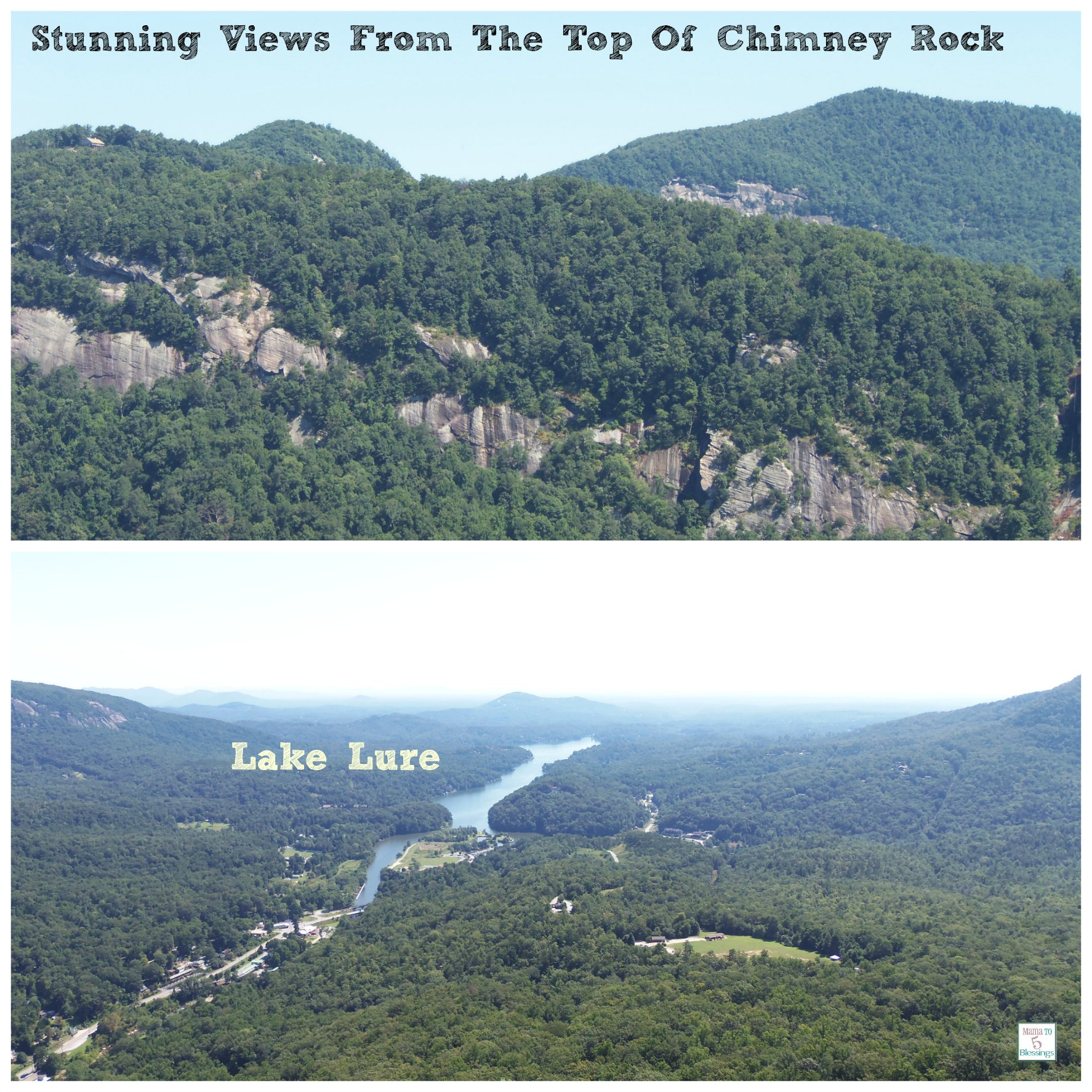 chimney rock views collage