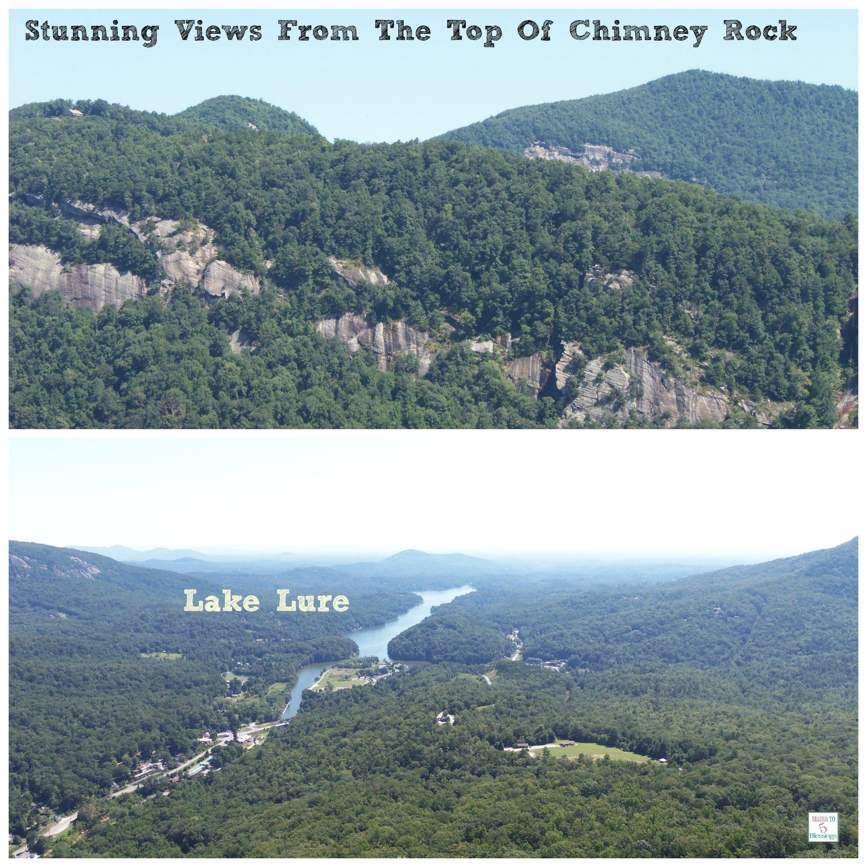 chimney rock views collage