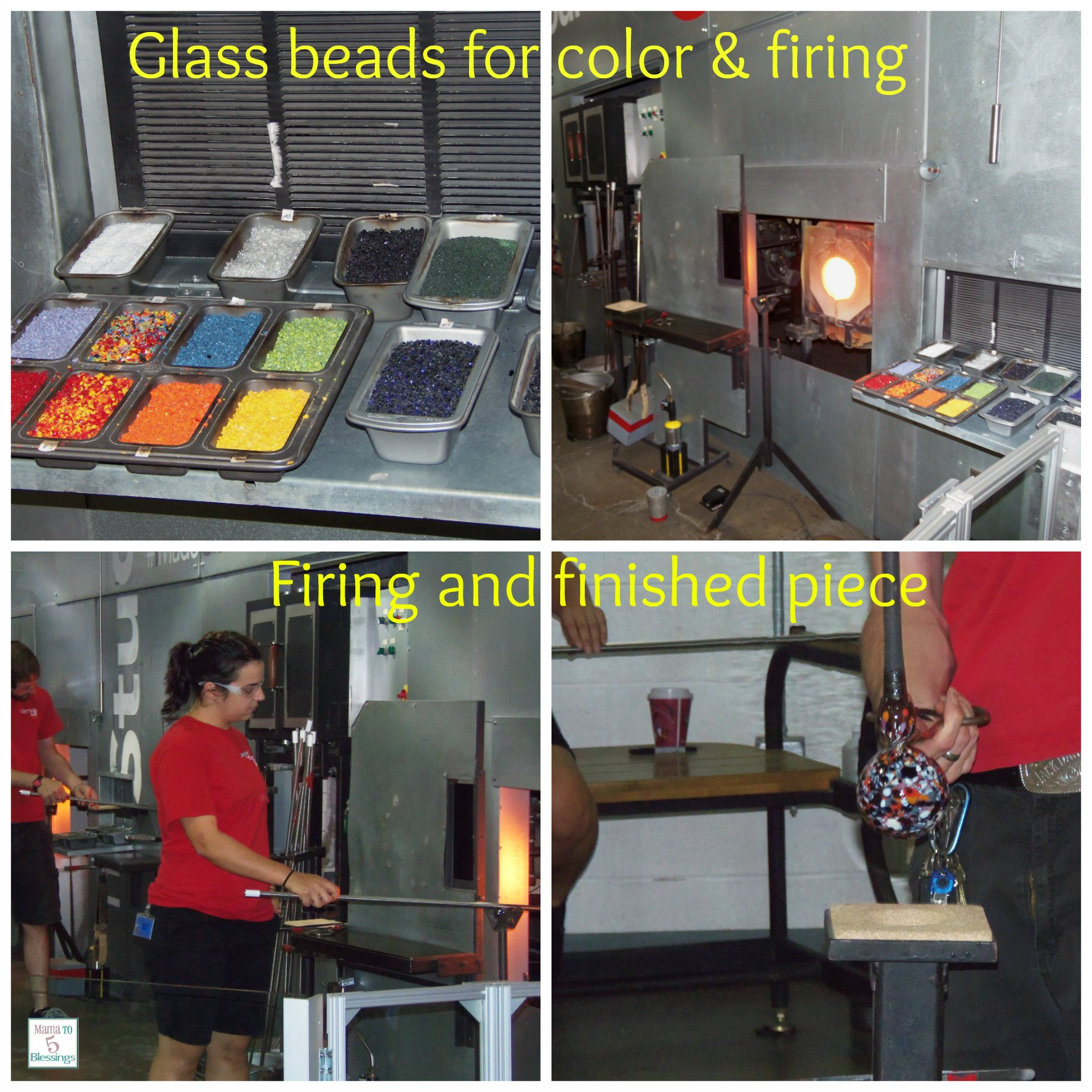 corning museum glass blowing collage