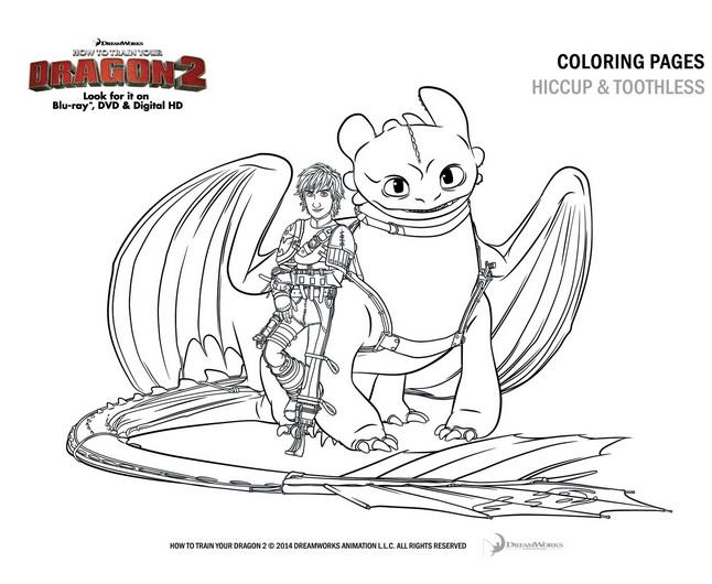 dragon 2 coloring page