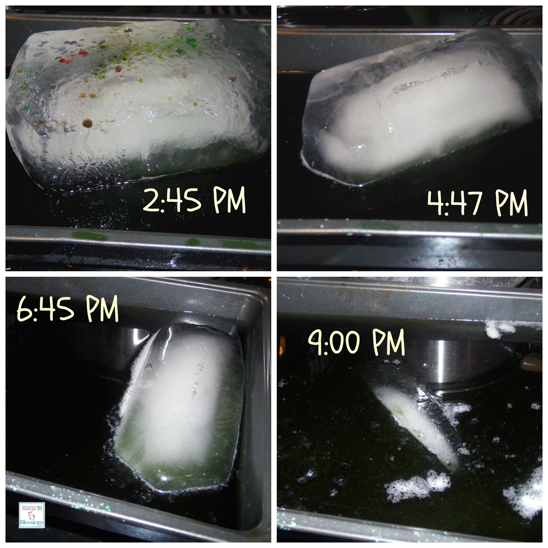 ice melt collage