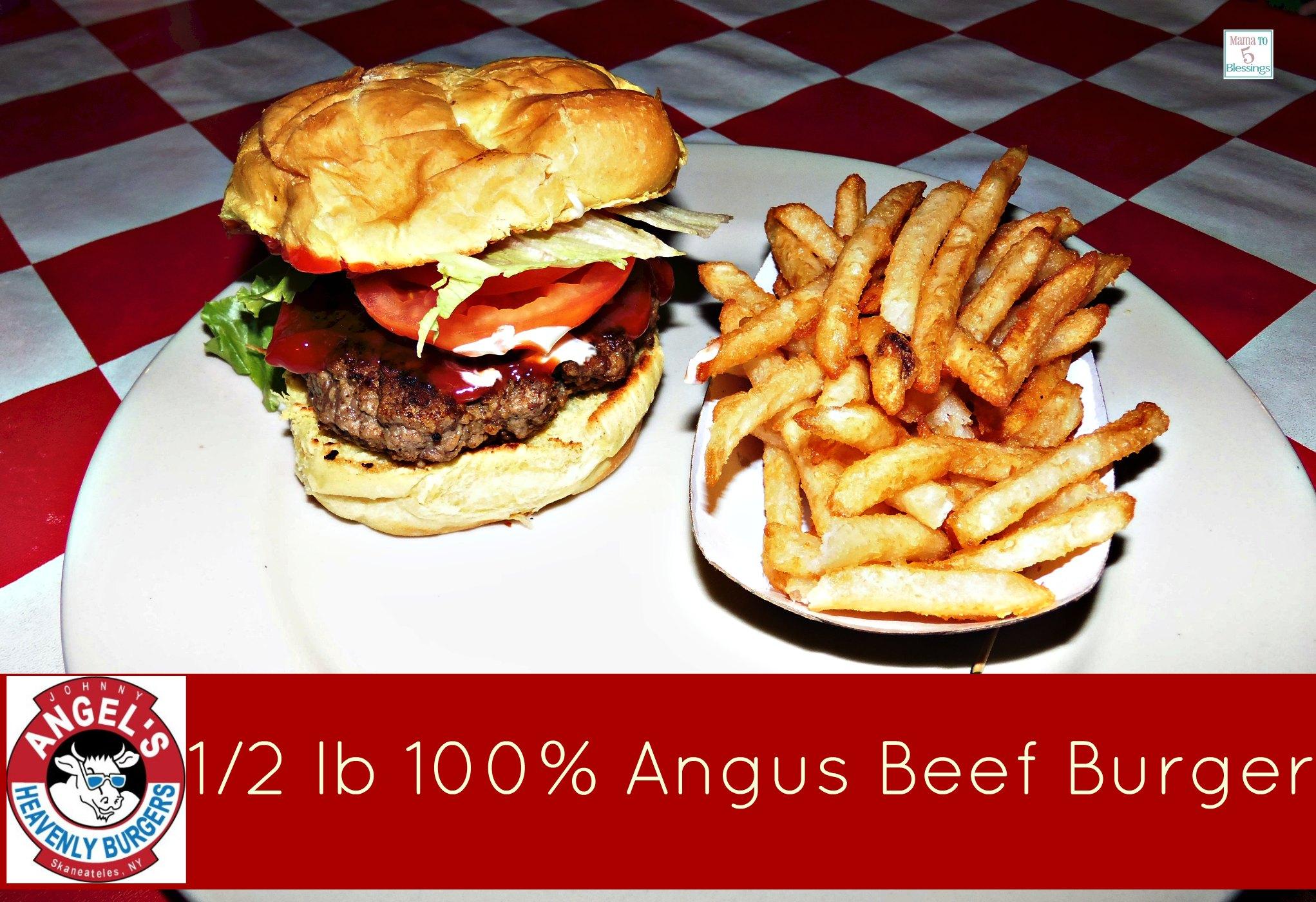 johnny angels 1/2 lb burger