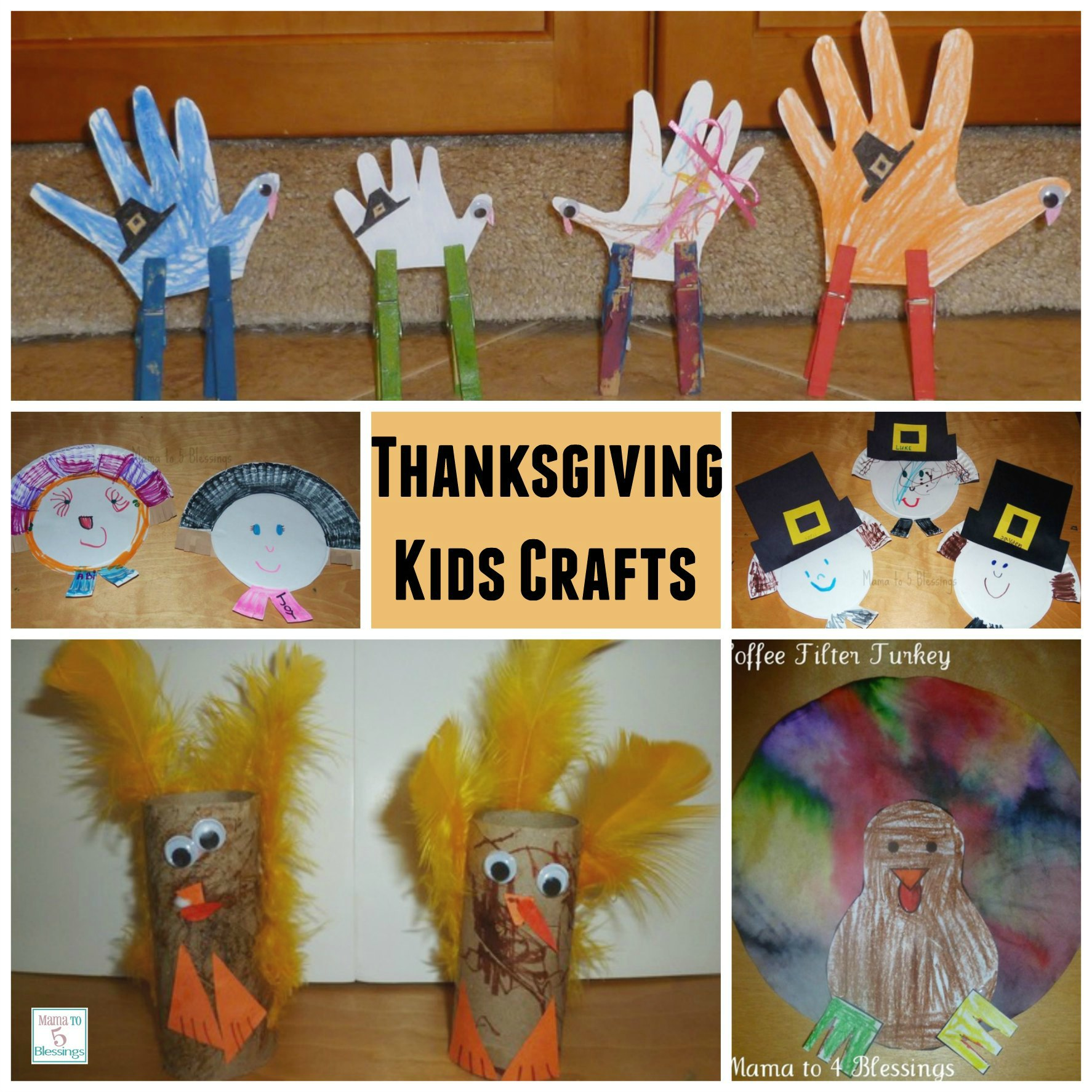 Easy Thanksgiving Kids Crafts Learn Link With Linky