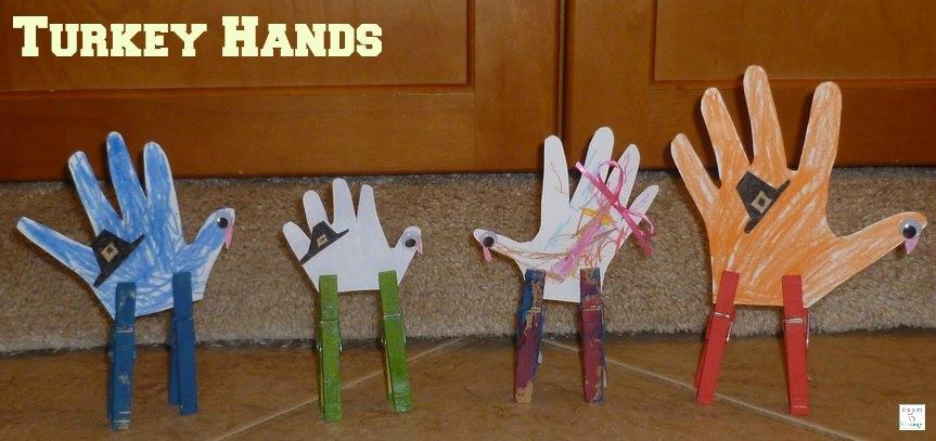 Thanksgiving turkey hands