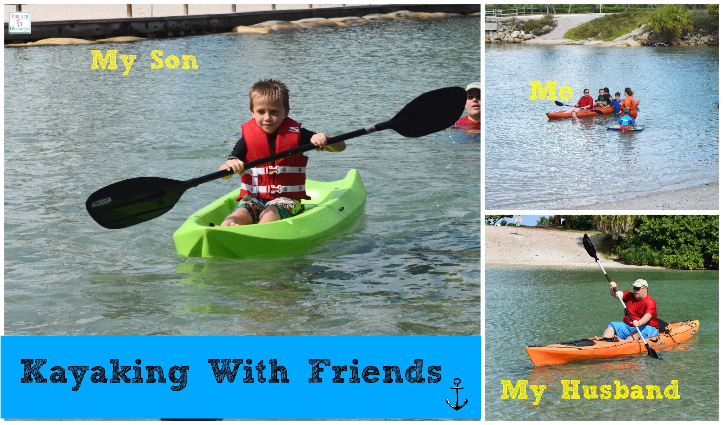 kayaking collage