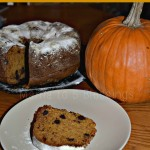Chocolate Chip Pumpkin Bundt Cake With Powdered Sugar Topping