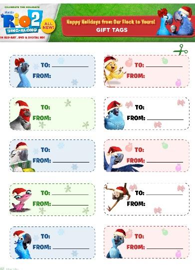 rio 2 gift tags