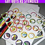 Recycling Board Game Cut Outs As Stencils For Kids (Learn & Link)
