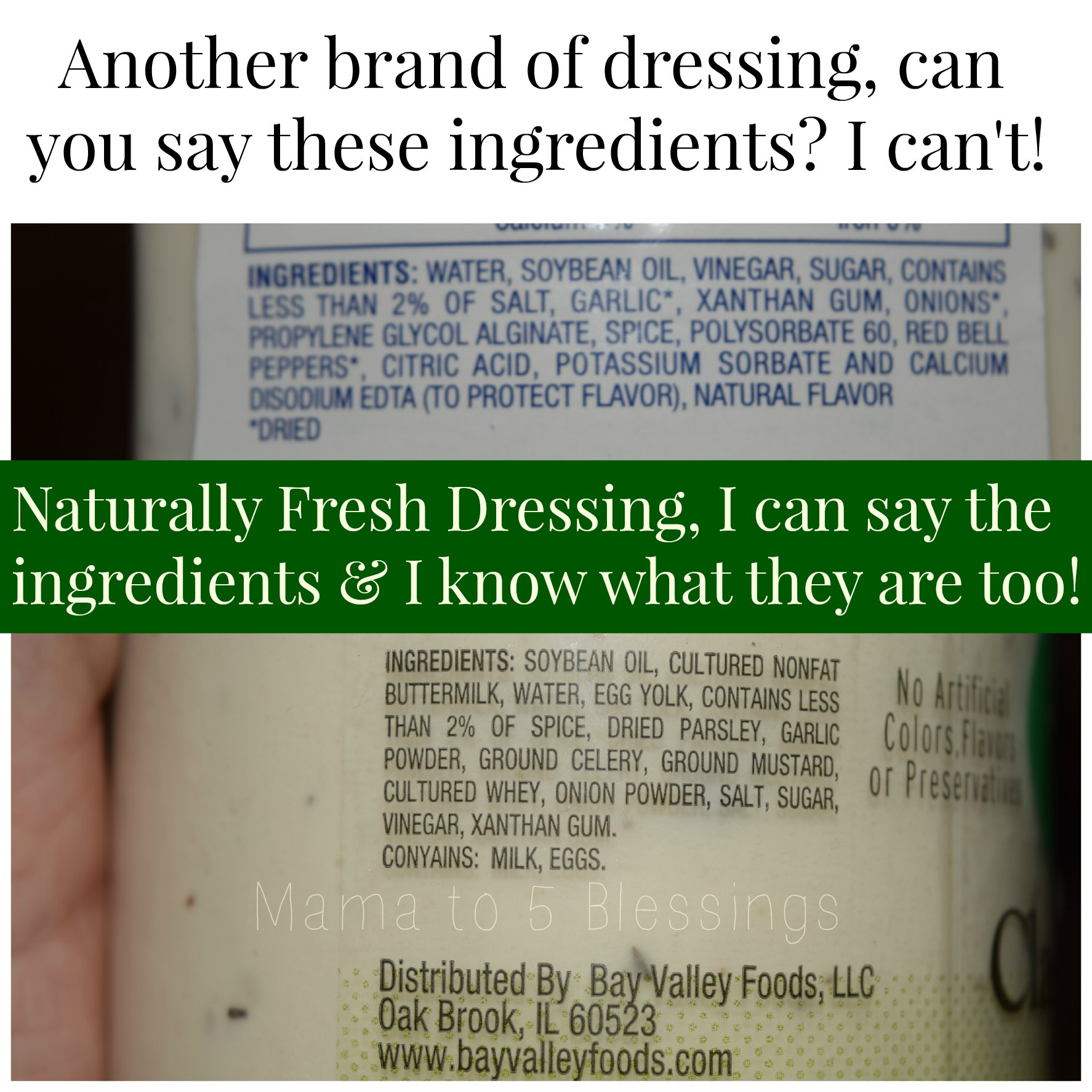 naturally fresh ingredient comparrison