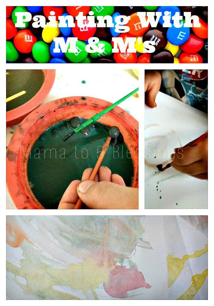 m & m paint collage a