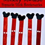 Mickey Mouse Popsicle Stick Bookmarks #DisneySide (Learn & Link)