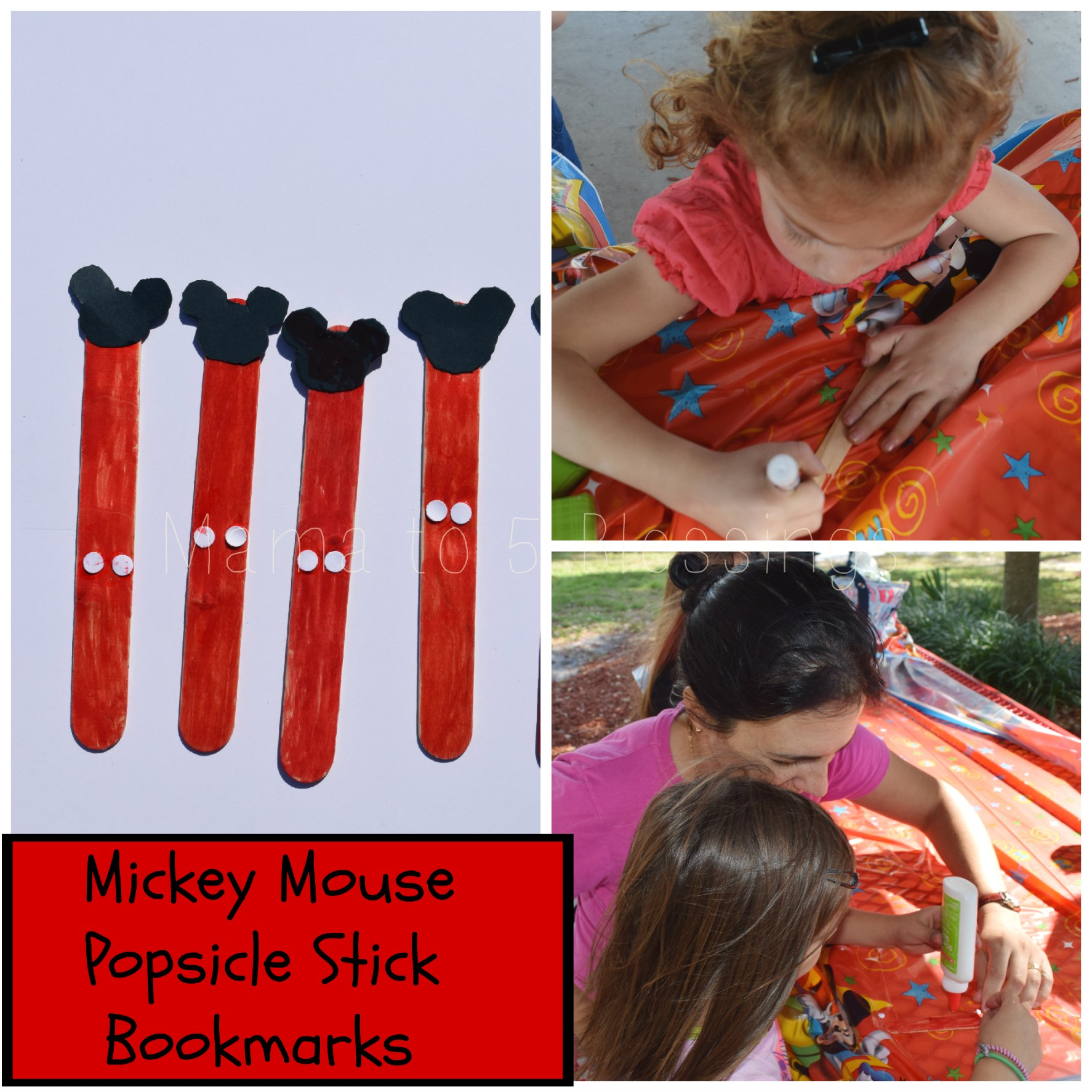 mickey mouse collage bookmark