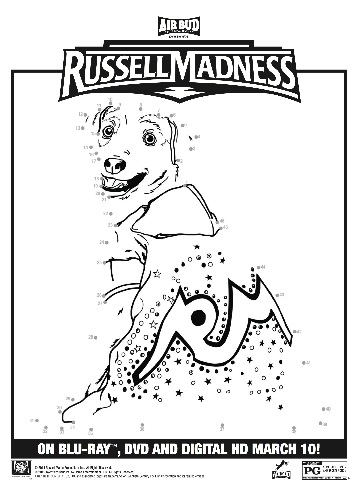 russell madness coloring page