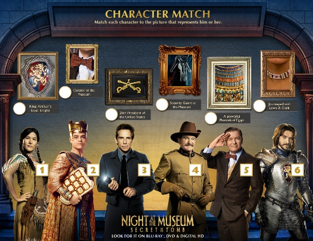 night at the museum character