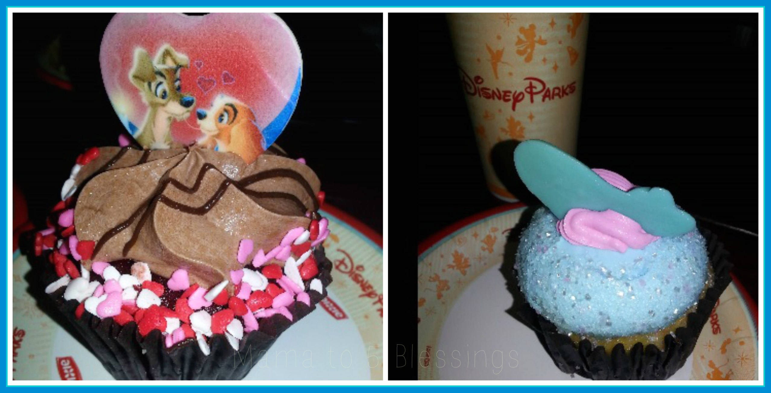 disney cupcakes collage