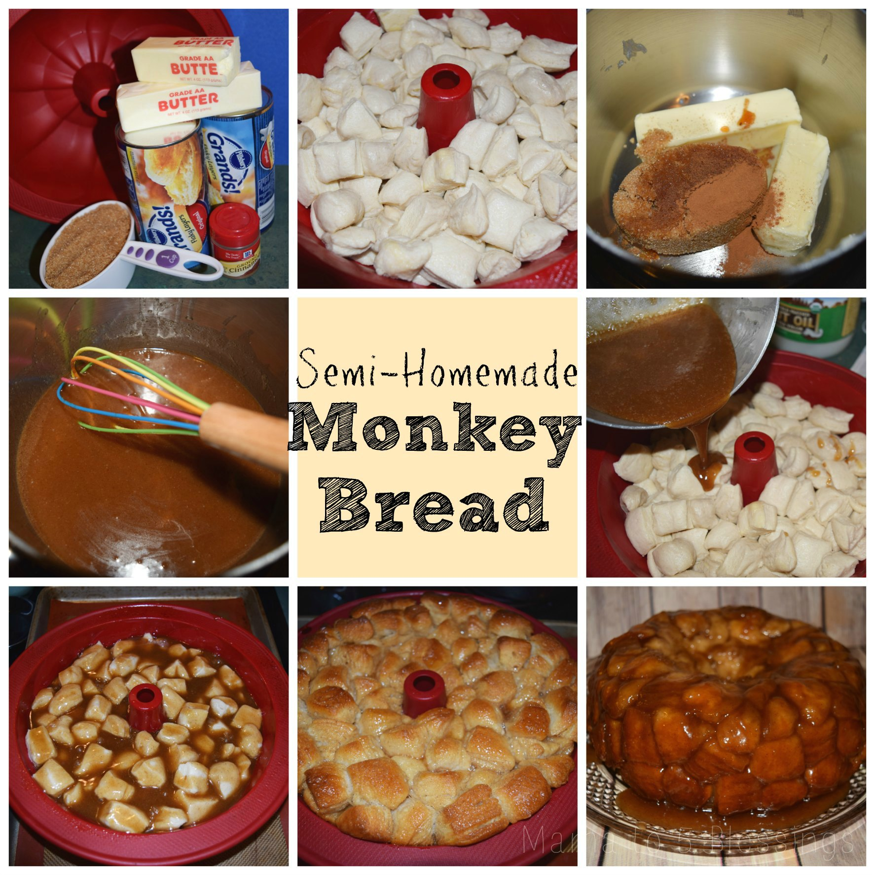 monkey bread collage a