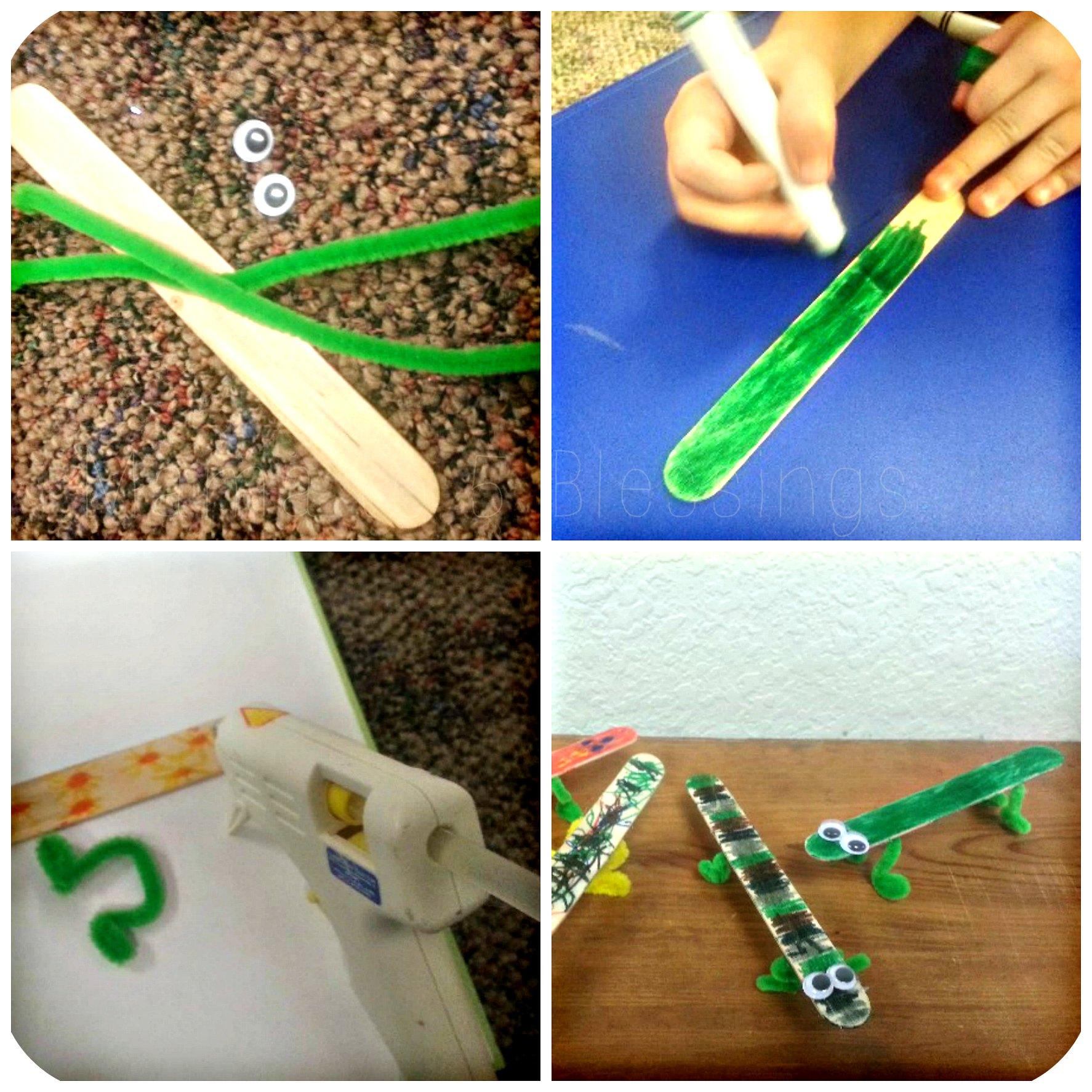 lizard craft collage