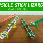 Popsicle Stick Lizards Kids Craft (Learn & Link With Linky)