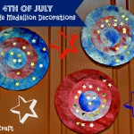 4th of July Tie Dye Medallion Decorations #KidsCraft