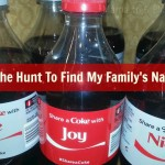 Hunt To Find My Family's Names #ShareACoke (Almost) Wordless Wednesday WITH Linky