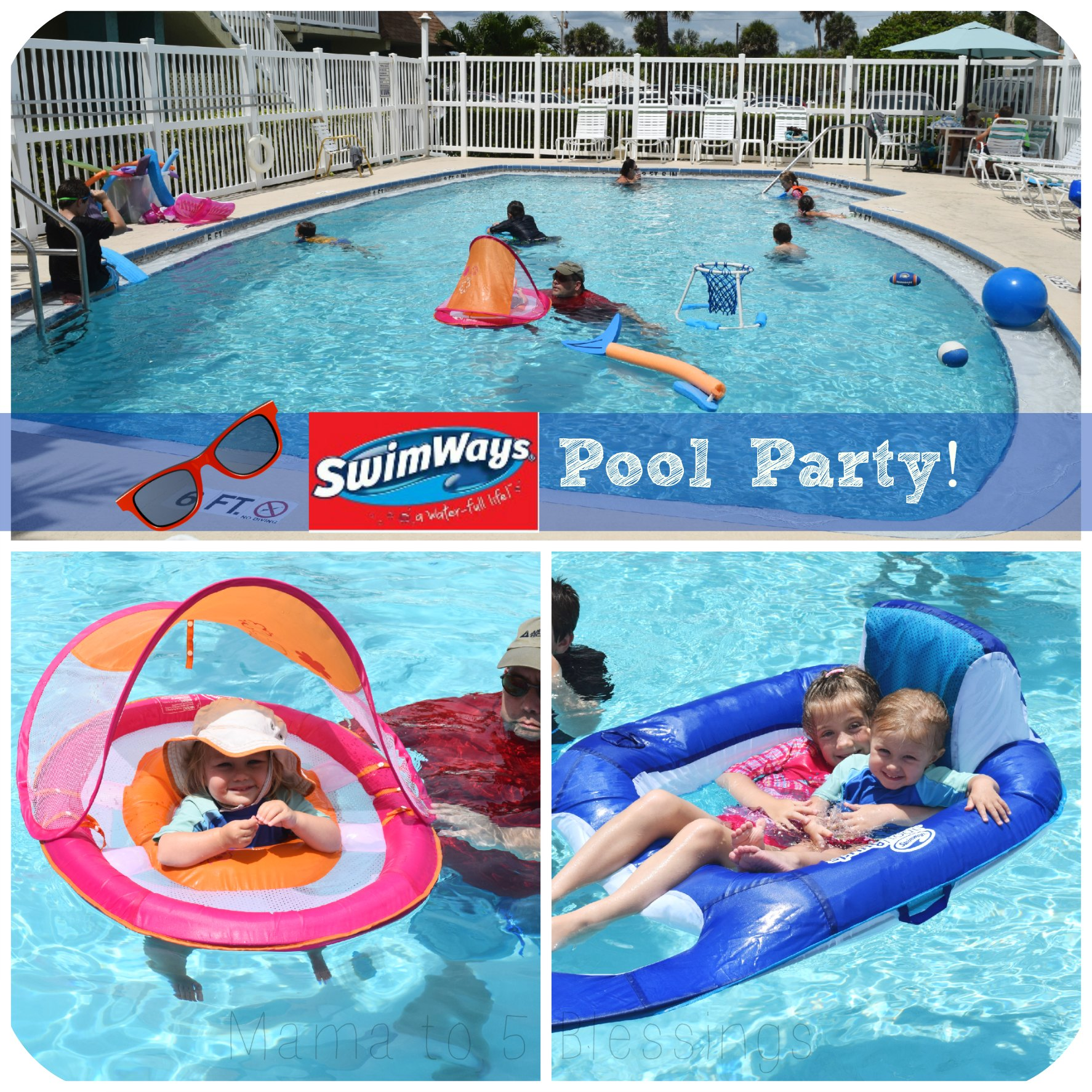swimways party collage