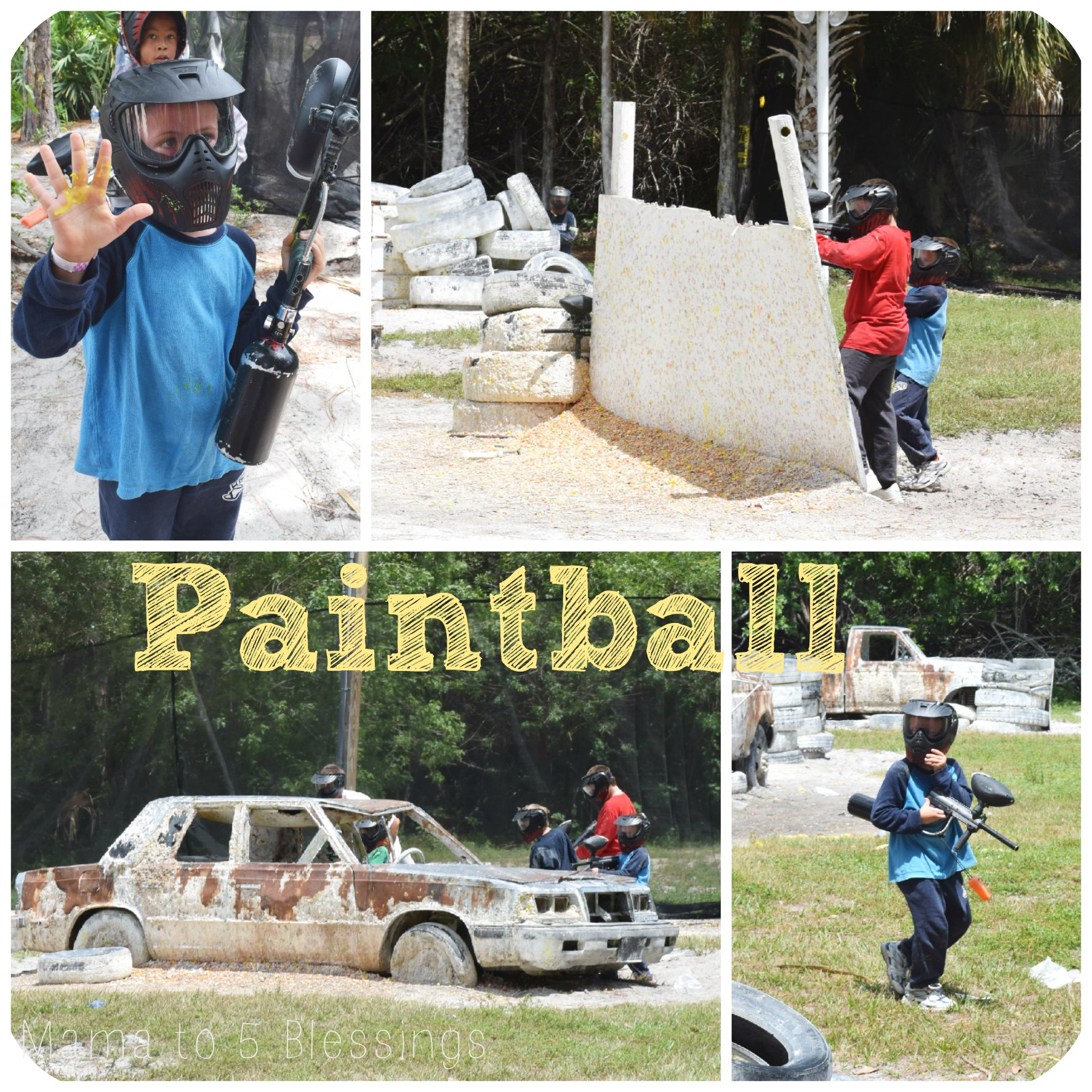 paintball collage