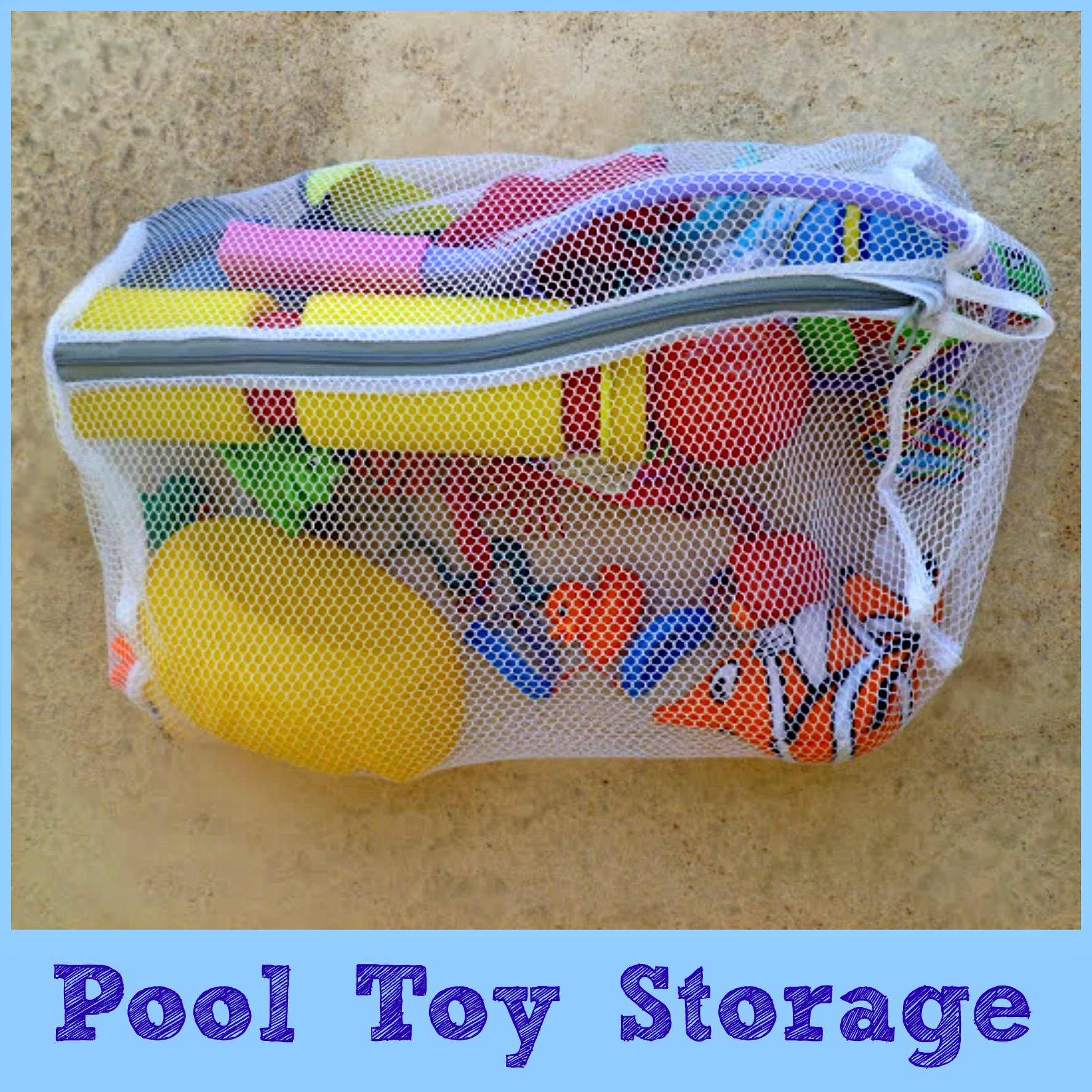 pool toy storage button