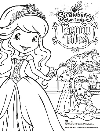 Strawberry shortcake berry tales for Strawberry shortcake characters coloring pages