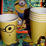 Kids Homemade Make And Toss Minion Cups