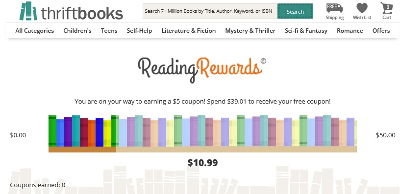 thriftybooks reading rewards