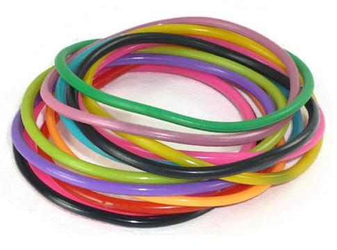 1980's rubber bracelets