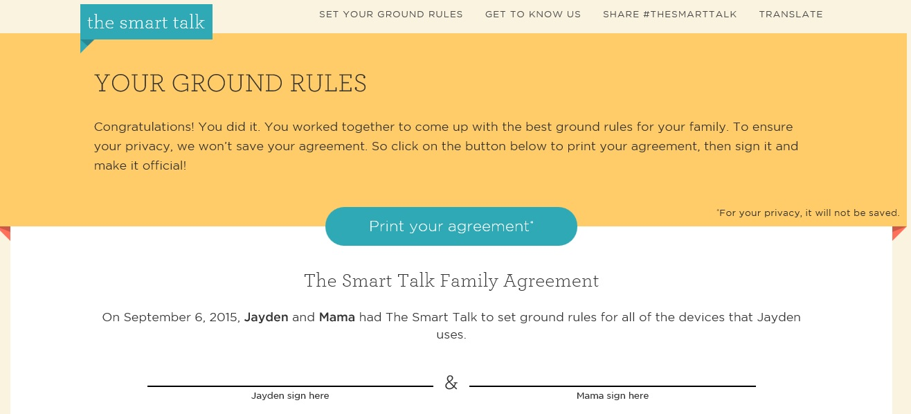 Smart Talk agreement