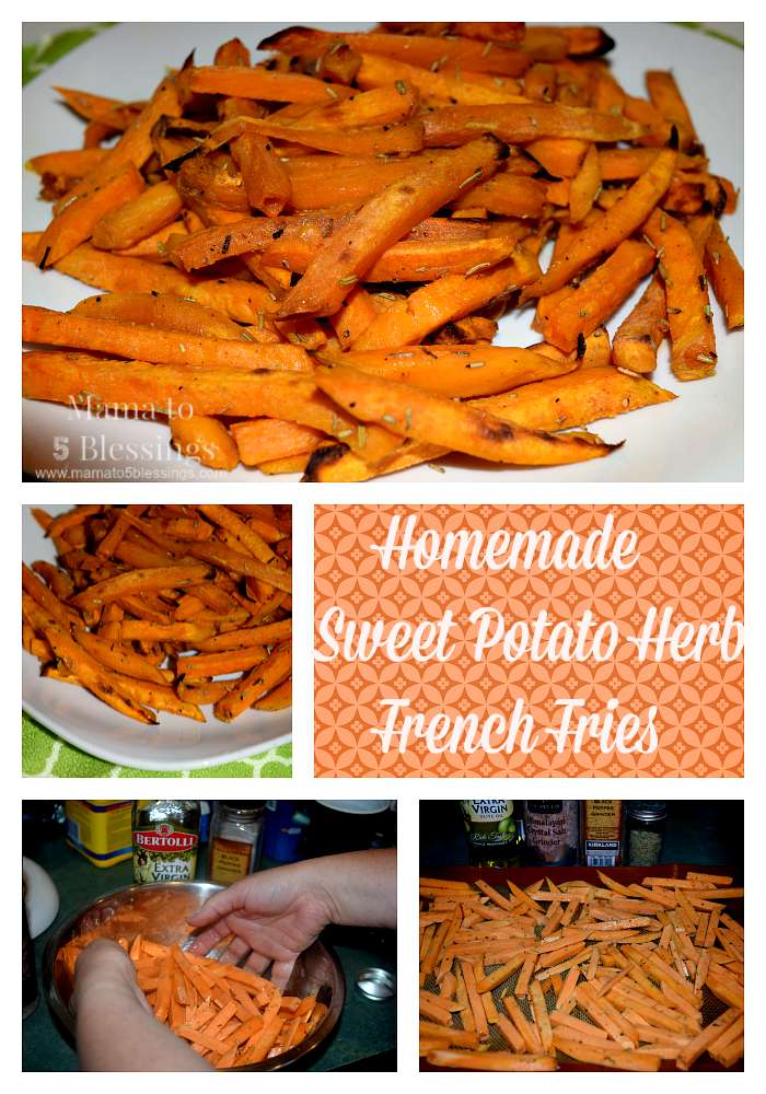 sweet potato fry collage