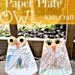 Paper Plate Owl Craft For Kids #FallCraft