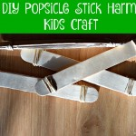 DIY Popsicle Stick Harmonica #KidsCraft
