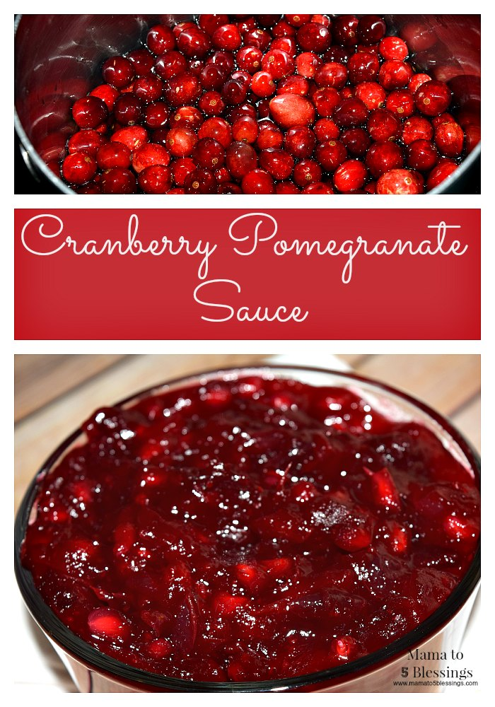 cranberry pomegranate sauce pin