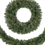 Pre-lit LED Classic Noble Fir Wreath Giveaway #GiftGuide