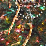 Candy Cane Cheerios Craft / Activity For Toddlers