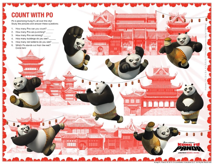 kung fu panda count with po