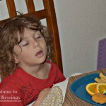 Asleep At The Dinner Table (Almost) Wordless Wednesday With Linky