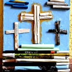Easter Magazine Rolled Crosses #KidsCraft