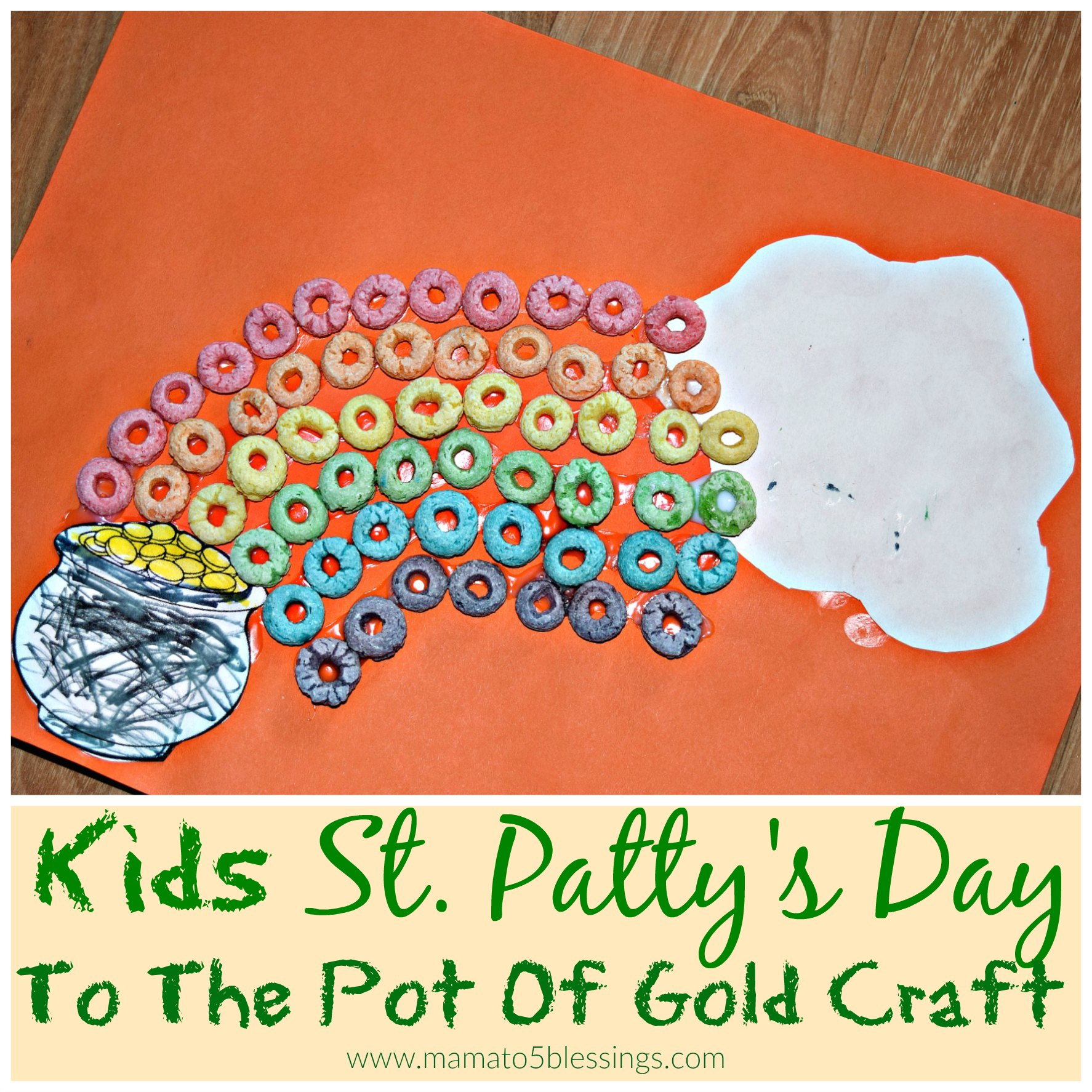 st. pattys day craft collage